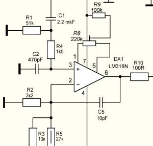 микросхема LM318N