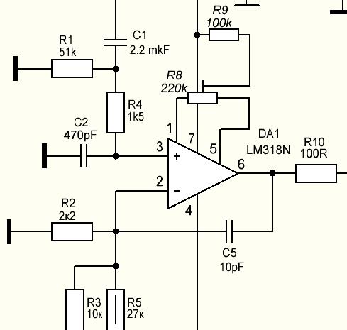 Lm318n схема включения