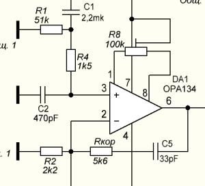 микросхема OPA134
